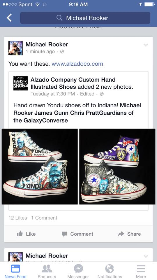 5227f37ab6b71f ... hand drawn shoes for the cast and crew of Guardians of the Galaxy Vol.  2